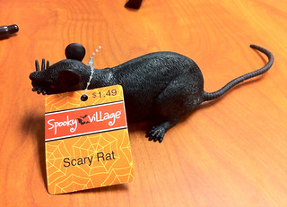 Beware. Scary Rat. Only $1.49 at Spooky Village. I'm scared already, can't you tell?