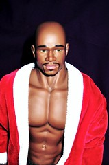 Getting Ready For Christmas... (farmspeedracer) Tags: show santa christmas gay man black male men naked nude actionfigure goatee doll tyson action bald hunk totem figure billy stud collector