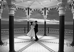 291 (benjamesallan) Tags: wedding blackandwhite groom bride dance brighton dancing pavilion bandstand