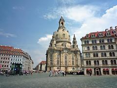 Dresden / Duitsland - Germany (dietmut) Tags: church germany dresden saxony frauenkirche kerk duitsland churchofourlady 2014 onzelievevrouwekerk panasoniclumix saksen julijuly dmcfx500 dietmut