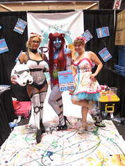 The Painted Pin Ups (Docking Bay 93) Tags: christmas new york storm trooper star paint comic cosplay body before sally stormtrooper nightmare wars reverse reversed comiccon con gender 2014 nycc