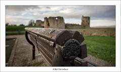 at the castle.... (bevscwelsh) Tags: bench flintshire northwales flintcastle olympus1250 olympusem5 walescoastalpath