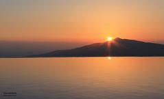 Sunset (Hannahbella Nel) Tags: sunset orange reflection water turkey bay over kalkan the hannahbellaaaa