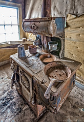 Home Cooking (stephencurtin) Tags: california park house coffee town rust state interior ghost pot stove bodie dust pans thechallengefactory ljohl