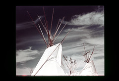 ss13-03 (ndpa / s. lundeen, archivist) Tags: sky color film clouds 1971 indian nick slide bluesky nativeamerican indians wyoming slideshow teepee 1970s sheridan americanwest nativeamericans powwow sioux tepee teepees dewolf westernus tepees nickdewolf photographbynickdewolf slideshow13