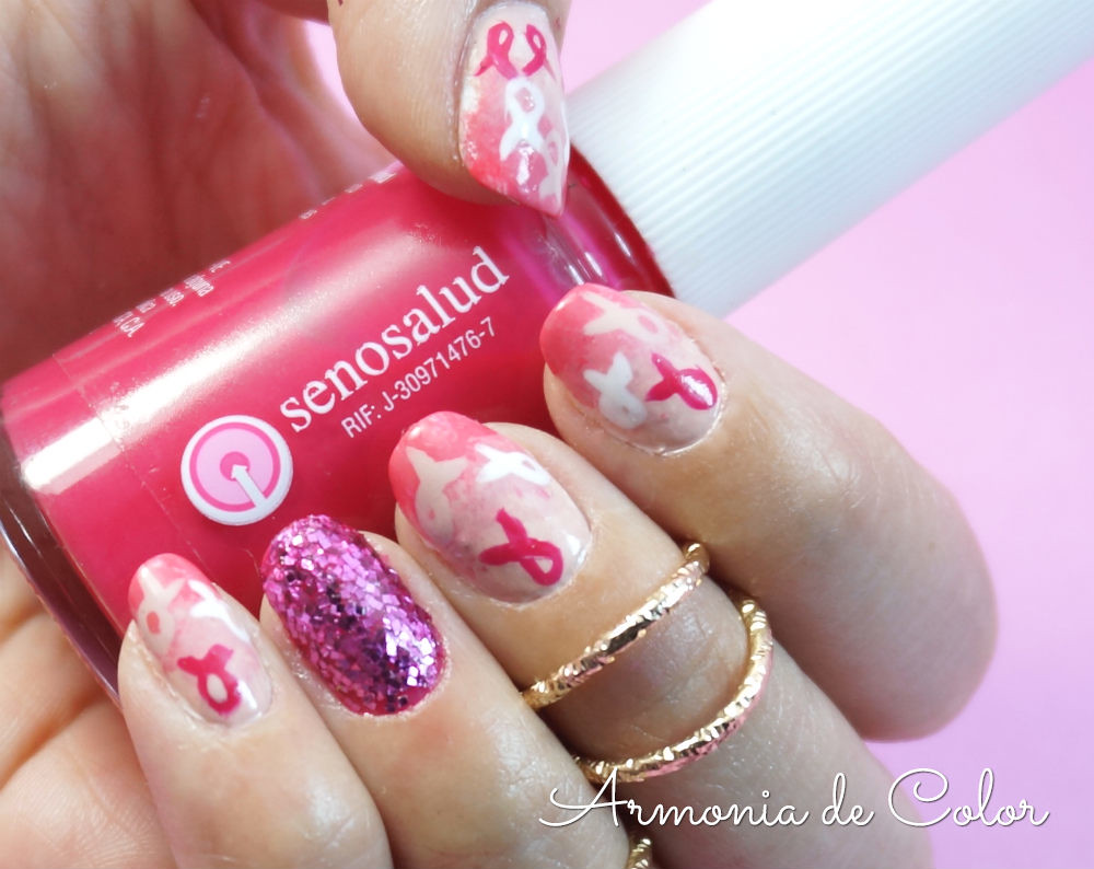diseño de uñas octubre rosa 3