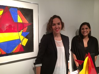 Valentina Garcia and partner Mali Parkerson at their m+vART gallery in the Wynwood Arts building during gallery walk