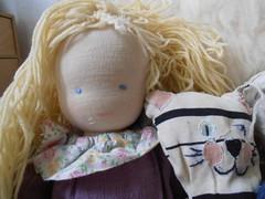 Katharinas doll and cat (storebukkebruse) Tags: dolls tidyingup waldorftoys seeingwhatisintheattic