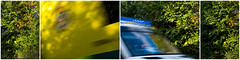 999 - Hampshire Ambulance Emergency Call (fstop186) Tags: blue motion blur sports yellow speed lights reflex triptych bright action random cab creative olympus hampshire racing ambulance driver service emergency polyptych panning technique needforspeed services shout quadtych 999 em1 hiviz polytych bluesandtwos olympusm1240mmf28