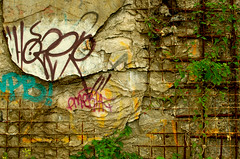 Milieu urbain (LPMarien) Tags: street urban graffiti ruins pentax quebec decay tag urbandecay gang rusty tags qubec rusted urbanruins hood decrepit deserted urbain ruines grafs rouill dcrpitude beauport grillages dcombres milieuurbain ruinesurbaines pentaxk50