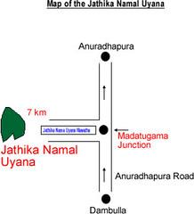 Location of Namal Uyana