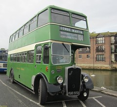 ECW bodied Bristol K6B KUO972 on Newport Quay 19 October 2014 (IslandYorkie) Tags: buses newport isleofwight doubledecker westernnational newportquay vintagebuses bristolk6b preservedbuses heritagebuses bristolbuses busrallies restoredbuses kuo972 isleofwightbusmuseum busesinthesouthofengland ecwbody busesontheisleofwight busrallies2014 isleofwightbeerbusesweekend2014 isleofwightbusmuseumautumnrunningday2014
