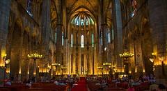 Santa Maria del Mar, Barcelona (Pensioner Percy, very slow at the moment) Tags: barcelona vacation spain cathedral wideangle ribera santamariadelmar pocruises nikond7100 18140mm nikon18140lens