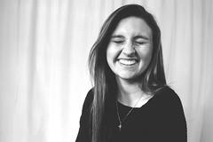 Rylee Flowers (Alyssa_Morton) Tags: old portrait blackandwhite white black cute girl smile female vintage oldschool teen laugh teenager