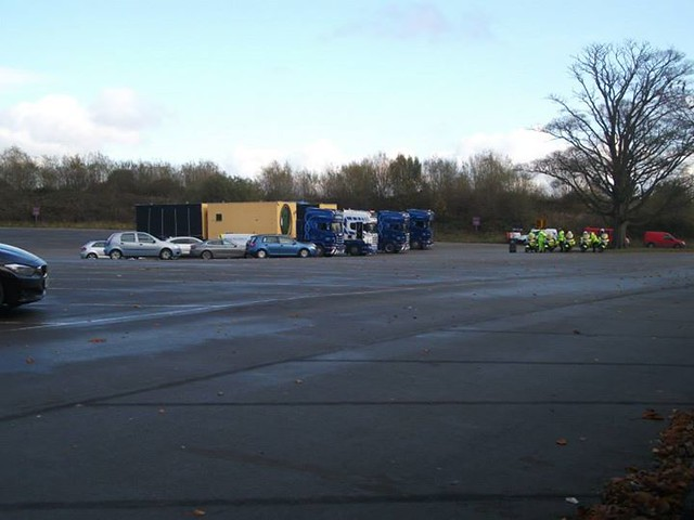 10/11/14 - The first set of lodges to be delivered.