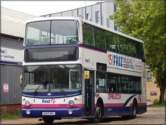 First 32493 (AU53 HKL) (Colin H,) Tags: england bus star volvo first lane depot alexander carpark eastern ipswich counties 2014 hkl fec ibp transbus alx400 32493 b7tl au53 ipswichbuspage au53hkl colinhumphrey firstipswich