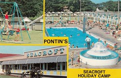 Pontins Seacroft Holiday Camp, Hemsby (trainsandstuff) Tags: vintage postcard norfolk retro archival pontins holidaycamp hemsby seacroft fredpontin