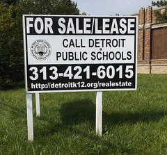 Sign: School For Sale/Lease--Detroit MI (pinehurst19475) Tags: city urban sign forsale michigan detroit property dps forlease detroitpublicschools