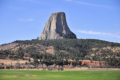 Views of Devil's Tower (ShacklefordPhotoArt) Tags: park travel wild sky usa mountain tower monument nature beautiful rock stone america landscape outdoors sandstone natural united devils north scenic scene climbing national american environment states wyoming wilderness monuments volcanic