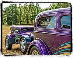 Matching Trailer (augphoto) Tags: auto car automobile purple unitedstates southcarolina event trailer custom carshow wareshoals augphotoimagery