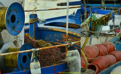 (Love me tender .**..*) Tags: sea blur colors collage boats greek photography fishing october details rusty greece automn 2014 dimitra floisvos palaiofaliro nikond3100 kirgiannaki