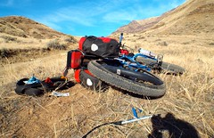 Imnaha to Dug Bar in Hells Canyon (Doug Goodenough) Tags: november camping fall bike bicycle bar oregon river climb ride snake 14 spokes canyon pedals imnaha 29 dug surly gravel steep hells 2014 puglsley krampug drg53114 drg53114p drg53114pdugbar