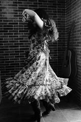 El Sur (Megan N. Prieto) Tags: she portrait woman white black blanco dance spain women dancing guitar retrato south guitarra negro andalucia spanish sur baile flamenco