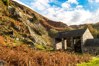 Farm buildings in the Dysynni valley (Explore)