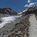 A esquerda, o Glaciar Viejo