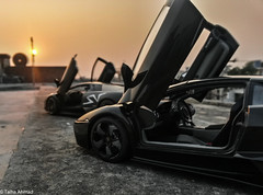 Reventon VS LP670-4 SV. (TAF27) Tags: pakistan sunset black gloss lamborghini nero lahore sv matte lhr nemesis 118 murcielago scalemodel lambo autoart reventon lambos superveloce lp6704 lp670 sportveloce neronemesis