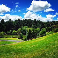 instagrammed (raqib) Tags: park trees sky green nature clouds garden golf square spring hill lofi australia melbourne bluesky squareformat golfing botanic lush berwick hilltop greenandblue blueandgreen wilsonbotanicpark iphoneography instagram instagramapp uploaded:by=instagram instagrammed foursquare:venue=4be62d4a2468c9282a2b0143