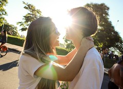 Love (Josi Flores) Tags: summer sun cute green love boyfriend nature beautiful girlfriend couple pretty natural carol poa marcelo gasmetro