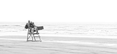 On Guard B&W (nfin10) Tags: life new white black beach canon guard powershot jersey g16 wildowood nfin10