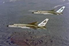 RVAH-7 RA-5C Vigilantes (skyhawkpc) Tags: northamerican ussranger rvah7peacemakers ra5c vigilante 156608 ne610 156641 ne612 inflight 1979 officialusnavy navy usn naval aviation aircraft airplane usnavy