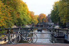 Canals of Amsterdam (George Pachantouris) Tags: amsterdam holland netherlands canals herengracht keizersgracht bicycle canal selfie photo