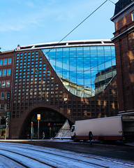 Unconventional library building / Unkonventionelles Bibliotheksgebäude
