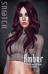 Sn@tch Amber Hair Vendor Ad LG (Tess-Ivey Deschanel) Tags: sntch snatch secondlife sl second life sexy style specials new newrelease newreleases outfits omegasystem october clothing clothes clubwear costumes cyberpunk casual iveydeschanel ivey ihearts hot horror halloween haunted hair