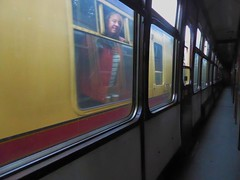 Face in the Window (metrogogo) Tags: faceinthewindow railwaycarriage corridorcoach trains passing
