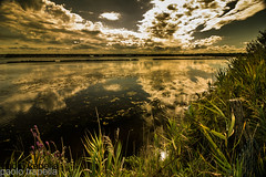 clouds (paolotrapella) Tags: clouds nuvole reflection riflesso acqua water