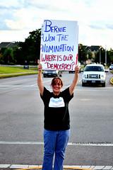Cindy Stranger 9/100 (Madchemist2013) Tags: elections houston bernie hillary trump rigged 100strangers 100newfriends