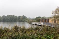 """Berlin-Marzahn: Seeterrasse mit knftigem Umweltbildungszentrum (noch im Bau) am Wuhleteich - Wuhle Pond with the new """"Lake Terraces"""" and the future Ecological Education Centre (still under construction) (riesebusch) Tags: berlin iga2017 marzahn grtenderwelt"""