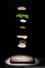 Explosion-burger (Marcelo Madroal) Tags: light burger hamburger food comida producto publicidad