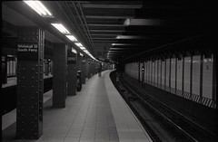 Whitehall St./South Ferry (je245) Tags: leicam3 leicasummicron50mmf20rigid kodak tx400 diafine nyc newyork
