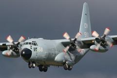 165158 GLA 5-10-2013 (Plane Buddy) Tags: 165158 lockheed c130 hercules usn navy vr54 glasgow egpf