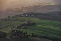 Overview of Volterra hills (gionatatammaro) Tags: strada street tramonto sunset travel trees hills colline volterra