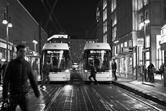 161011_SAM_9768 (Jan Jacob Trip) Tags: berlijn duitsland berlin germany black contrast night white rain bw tram streetcar people streetphotography station alexanderplatz reflection window shop lamppost lantern