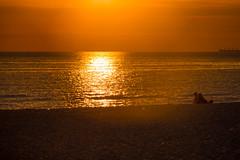 Sunset on the Beach (Infomastern) Tags: skanr hav sea solnedgng sunset