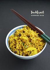 Jackfruit Curried Rice (chow vegan) Tags: jackfruit ripe sweet rice curry vegan vegetarian