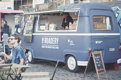 Street food (sonia.sanre) Tags: vintage woman good fast food burger caravan blue jobs work oficios