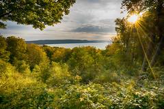 _DSC9981 Glen Lake Overlook (Charles Bonham) Tags: sleepingbeardunesnationallakeshore sleepingbeardunes glenlake trees sunstar landscape sunrise sonya7r sonyzeissfe1635mmf4 charlesbonhamphotography clouds foliage